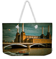 Pink Floyd Pig At Battersea Weekender Tote Bag by Dawn OConnor