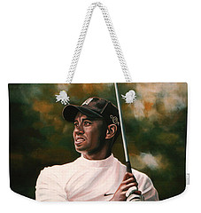 Tiger Woods  Weekender Tote Bag by Paul Meijering