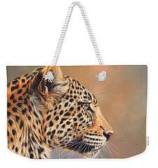 Leopard Weekender Tote Bag by David Stribbling
