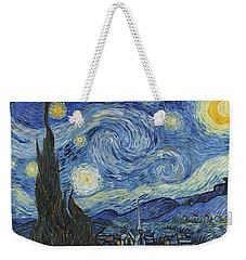 The Starry Night Weekender Tote Bag by Vincent Van Gogh