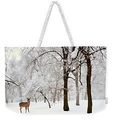 Winter's Breath Weekender Tote Bag by Jessica Jenney