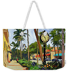 5th Avenue Naples Florida Weekender Tote Bag by Christine Hopkins