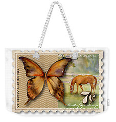 7 Cent Butterfly Stamp Weekender Tote Bag by Amy Kirkpatrick