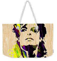 Michael Jackson Painting Weekender Tote Bag by Marvin Blaine
