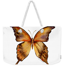 7 Yellow Gorgon Butterfly Weekender Tote Bag by Amy Kirkpatrick