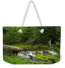 A Beaver Dam Overflowing Weekender Tote Bag by Jeff Swan