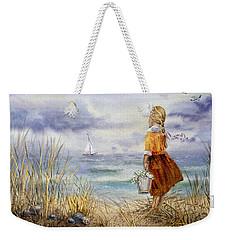A Girl And The Ocean Weekender Tote Bag by Irina Sztukowski