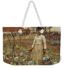 A Hinds Daughter, 1883 Oil On Canvas Weekender Tote Bag by Sir James Guthrie