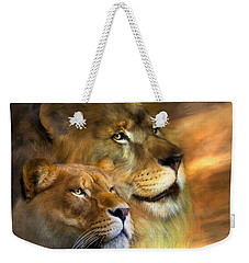 A New Dawn Weekender Tote Bag by Carol Cavalaris
