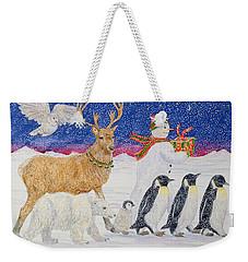 A Present For Santa  Weekender Tote Bag by Catherine Bradbury