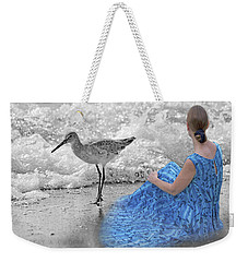 A Sandpiper's Dream Weekender Tote Bag by Betsy Knapp