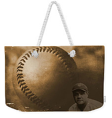A Tribute To Babe Ruth And Baseball Weekender Tote Bag by Dan Sproul