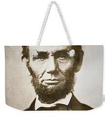 Abraham Lincoln Weekender Tote Bag by Alexander Gardner
