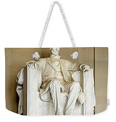 Abraham Lincolns Statue In A Memorial Weekender Tote Bag by Panoramic Images