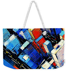 Abstract New York Sky View Weekender Tote Bag by Mona Edulesco