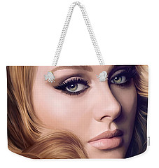 Adele Artwork  Weekender Tote Bag by Sheraz A