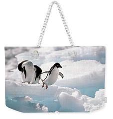 Adelie Penguins Weekender Tote Bag by Art Wolfe