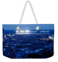 Aerial View Of A City, Wrigley Field Weekender Tote Bag by Panoramic Images