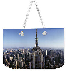 Aerial View Of A Cityscape, Empire Weekender Tote Bag by Panoramic Images