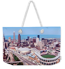 Aerial View Of Jacobs Field, Cleveland Weekender Tote Bag by Panoramic Images