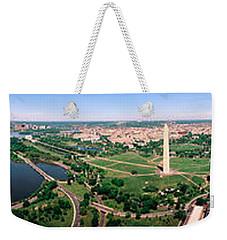 Aerial Washington Dc Usa Weekender Tote Bag by Panoramic Images