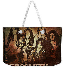 Aerosmith - Back In The Saddle Weekender Tote Bag by Absinthe Art By Michelle LeAnn Scott