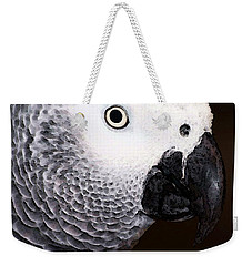 African Gray Parrot Art - Seeing Is Believing Weekender Tote Bag by Sharon Cummings