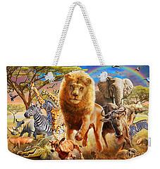 African Stampede Weekender Tote Bag by Adrian Chesterman