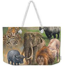 Africa's Big Five Weekender Tote Bag by David Stribbling