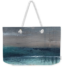 After The Storm- Abstract Beach Landscape Weekender Tote Bag by Linda Woods