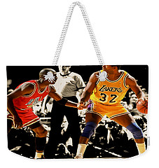Air Jordan On Magic Weekender Tote Bag by Brian Reaves