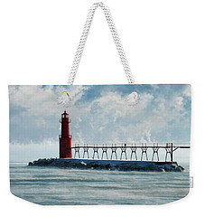 Algoma Pierhead Lighthouse Weekender Tote Bag by Christopher Arndt