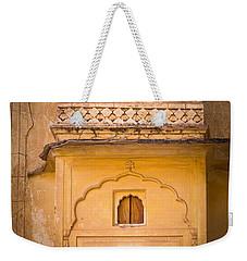 Amber Fort Birdhouse Weekender Tote Bag by Inge Johnsson