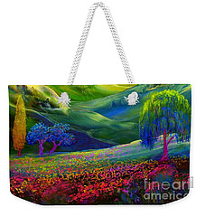 Wildflower Meadows, Amber Skies Weekender Tote Bag by Jane Small