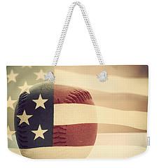 Americana Baseball  Weekender Tote Bag by Terry DeLuco