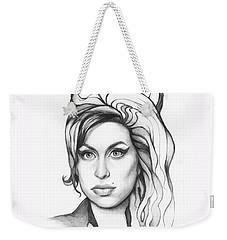 Amy Winehouse Weekender Tote Bag by Olga Shvartsur
