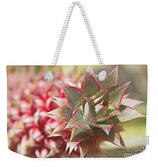 Ananas Comosus - Pink Ornamental Pineapple Weekender Tote Bag by Sharon Mau