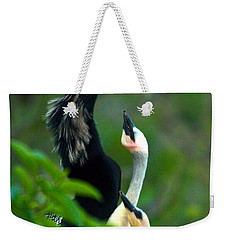 Anhinga Adult With Chicks Weekender Tote Bag by Mark Newman