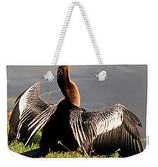 Anhinga Anhinga Anhinga Drying Plumage Weekender Tote Bag by Millard H. Sharp
