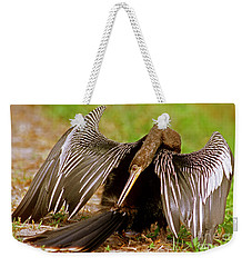 Anhinga Anhinga Anhinga Preening Weekender Tote Bag by Millard H. Sharp