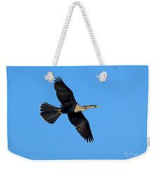 Anhinga Female Flying Weekender Tote Bag by Anthony Mercieca