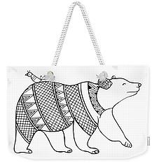 Animal Bear Weekender Tote Bag by Neeti Goswami