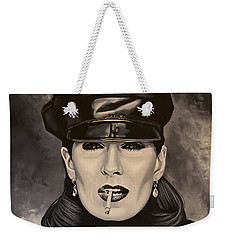 Anjelica Huston Weekender Tote Bag by Paul Meijering