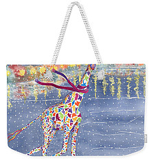 Annabelle On Ice Weekender Tote Bag by Rhonda Leonard