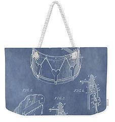 Antique Snare Drum Patent Weekender Tote Bag by Dan Sproul