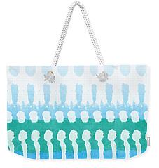 Aqua Weekender Tote Bag by Linda Woods