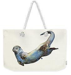 Aqua Weekender Tote Bag by Mark Adlington