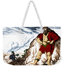 Atlas And Perseus, Greek Mythology Weekender Tote Bag by Photo Researchers