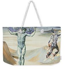 Atlas Turned To Stone, C.1876 Weekender Tote Bag by Sir Edward Coley Burne-Jones