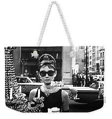 Audrey Hepburn Breakfast At Tiffany's Weekender Tote Bag by Nomad Art
